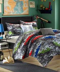 Heroes Reversible Comforter Set - perfect for a teenager boy's room.
