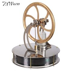 Kiwarm Vintage Discovery Toys Low Temperature Stirling Engine Motor Steam Heat Education Model Toy Gift For Kids Craft Ornament #Affiliate