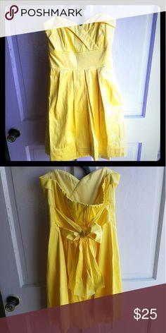 Spotted while shopping on Poshmark: Yellow Strapless Dress! #poshmark #fashion #shopping #style #Teeze Me #Dresses & Skirts