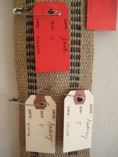 my craft stash contains every single component of this brilliant idea for a growth chart. it would be almost sinful not to copy it! >)