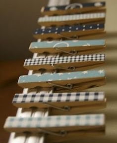 Crafted clothes pins