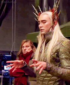 King of the Woodland Realm, Lee Pace being beautiful behind the scenes (x) (gifset)