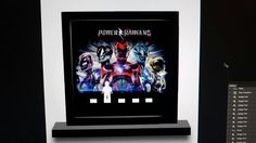 New power rangers Lego minifigures display frame