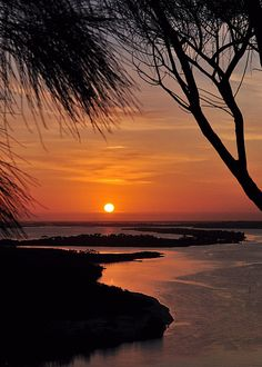 Sunset over Gippsland Lakes from Kalimna lookout, Lakes Entrance, Victoria, Australia. Photo by J Conn