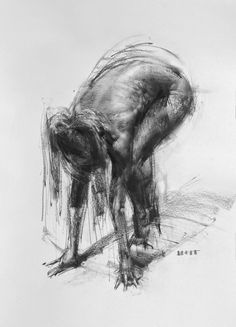 Zin Lim (Korean, b. 1974, Seoul, South Korea, resides San Francisco, CA, USA) - Figure #D202 Drawings: Charcoal on Paper