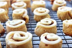 """Cinnamon Roll Cookies with Cream Cheese Frosting - Pin this recipe from @ChallengeButter 's """"Pin a Recipe, Feed a Child"""" board and it will donate a meal to #UNICEF for a child in need (up to 75,000 meals.) Please join us in the fight to end childhood malnutrition. More than 3 million lives are lost each year to this treatable and preventable crisis. #pinarecipefeedachild #challengebutter"""