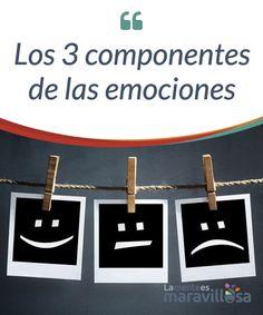 Los 3 componentes de las emociones Las #emociones tienen tres #componentes: conductual, neurofisiológico y cognitivo. Las emociones tienen #efecto a diferentes niveles en nuestro organismo. #Psicología