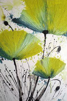 "Saatchi Online Artist: Irina Rumyantseva; Acrylic, 2011, Painting ""Yellow Poppies"""
