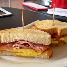Ham & Cheddar Cheese Breakfast Sandwich