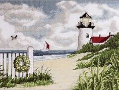 Items similar to Counted Cross Stitch Kit Peaceful Shores From Design Works on Etsy Embroidery Store, Embroidery Kits, Cross Stitch Embroidery, Cross Stitch Books, Counted Cross Stitch Kits, Cross Stitch Designs, Cross Stitch Patterns, Cross Stitch Tutorial, Cross Stitch Landscape
