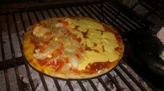 Pizza a la parrilla