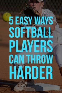 5 Easy Ways Softball Players Can Throw Harder Learn five softball throwing velocity tips that will help any player improve her infield and outfield ability. Softball Workouts, Softball Pitching, Softball Bows, Softball Coach, Softball Quotes, Softball Shirts, Girls Softball, Fastpitch Softball, Softball Players
