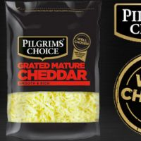 You can today try out totally for free a 150g bag of Pilgrims Choice Grated Mature Cheddar cheese.