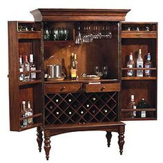 I think I really want this. Howard Miller Cherry Hill Wine Rack and Bar $1632
