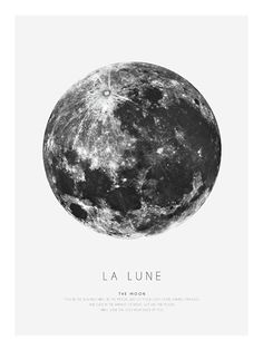 Graphic print with the moon | Posters online - desenio.se
