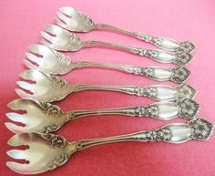 Orange Blossom Rogers 6 Antique Ice Cream Forks Victorian Silver Plate | eBay