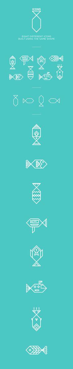 Eight, icons. by Riccardo Casinelli, via Behance