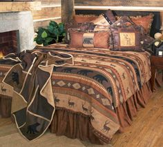 Autumn Trails Bedding Collections Cabin Rustic Free Shipping Throw