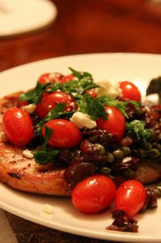 Mediterranean Pork Chops. Photo by Dr. Jenny