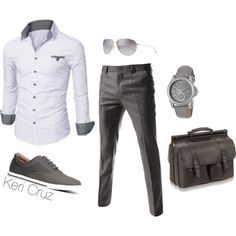 A fashion look from February 2015 featuring dress pants, leather bags und leather watches. Browse and shop related looks.
