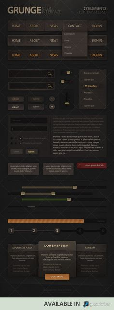 Grunge User Interface by Evil-S.deviantart.com on @deviantART