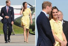 Kate wore a Jenny Packham Dress in primrose yellow during the North American tour in 2011.
