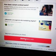 Cuando uno de nuestros post aparece en el newsletter de #Medium yei!!  #marketingdigital #digitalmarketing #emailmarketing #inbound #working #saturday