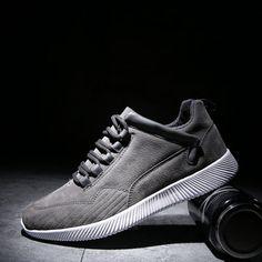bce1d5c04323 Men Leather Wearable Resistant Lace Up Breathable Casual Shoes