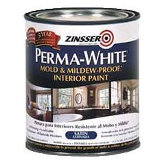 Satin Perma White Mold and Mildew Proof Interior Paint Qt