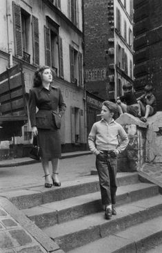 kid de fumer - photo vintage, paris