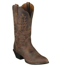 """15725 Ariat Cowboy Boots for Women - 12"""" Full Grain Distressed Leather Foot And Top. 1.75"""" Heel, R Toe, Duratread Outsole, Cowboy Boots for Women. - available at Cowtown Cowboy"""