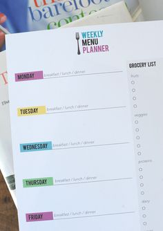 meal planning strategy and free printable on aliceandlois.com