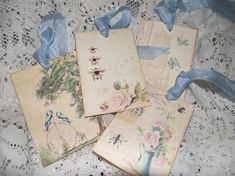 Pastel Color Gift Tags Shabby Chic Style Scrap Booking by mslizz, $5.00