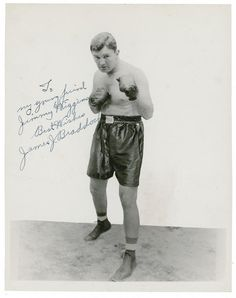 "James Walter ""The Cinderella Man"" Braddock (June 7, 1905 – November 29, 1974) was an American boxer who was the world heavyweight champion from 1935 to 1937.  Fighting under the name James J. Braddock (ostensibly to follow the pattern set by two prior world boxing champions, James J. Corbett and James J. Jeffries), he was known for his powerful right hand, granite chin and an amazing comeback from a floundering career. He had lost several bouts due to chronic hand injuries and was forced to work on the docks and collect social assistance to feed his family during the depression. In 1935 he fought Max Baer for the Heavyweight championship and won. For this unlikely feat he was given the nickname ""The Cinderella Man"" by Damon Runyon. Braddock was managed by Joe Gould."