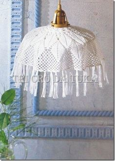 White lampshade  with diagram