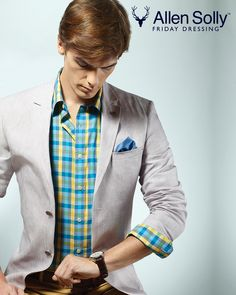 Checks are big news for autumn. Best to keep them sophisticated and simple with a sleek blazer.