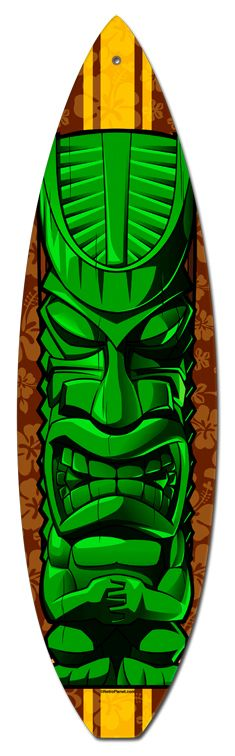 very good surfboard tiki