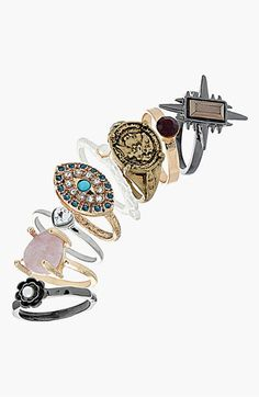 #Topshop 'Coin,Stone,Star' Rings #Nordstrom