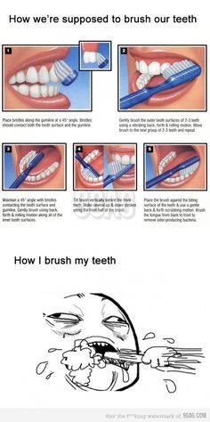 Brushing teeth... I have no idea what I'm doing! #dental #care #smile