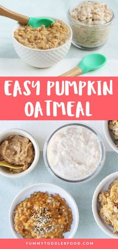 The Best Healthy Pumpkin Oatmeal Recipe that Kids Will Love and is Easy To Make! Start the day off on a nutritious and totally delish note with this super easy homemade pumpkin oatmeal for breakfast. You need just 5 ingredients and you can customize it to add extra protein. You can even transform leftovers into overnight oats! #PumpkinOatmeal #PumpkinRecipes #EasyRecipes #BreakfastIdeas