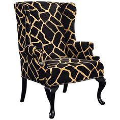 Giraffe Print Tiga Chair - #T3343 | Lamps Plus