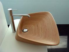 Washbasin in teak wood | GENE by Plavisdesign | Design Bullo Design
