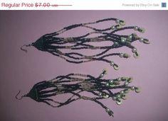 25 OFF SALE Long Beaded Pierced Earrings M64 by MICSJWL on Etsy, $5.25