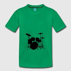 Drums - Teenage Premium T-Shirt Drums, Stickers, Mens Tops, T Shirt, Gifts, Supreme T Shirt, Tee Shirt, Presents, Percussion
