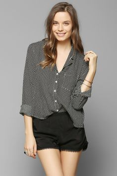 70943115c6364 Cooperative Revere Collar Button-Down Shirt - Urban Outfitters Revere Collar