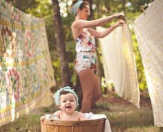 6 month old photo shoot, vintage sheets, clothes line, mommy daughter session, Columbia SC photographer Children Photography, Newborn Photography, Family Photography, Vintage Baby Photography, Vintage Photo Shoot, Photography Ideas, Photography Mini Sessions, Baby Pictures, Baby Photos