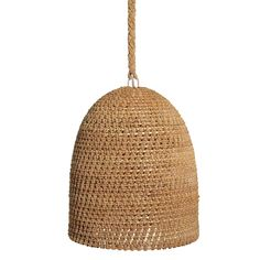 Palecek crafts this rustic pendant from intricately woven core rattan and natural rope for warm, earthy style. Pendant Chandelier, Pendant Lighting, Black Chandelier, Rattan, Wicker, Bamboo Pendant Light, Bamboo Lamp, Bliss Home And Design, Earthy Style