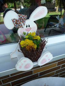 This morning we& from an Easter rabbit (my daughter . We were woken up this morning by an Easter rabbit (my daughter), she gave us - Easter Art, Easter Crafts, Easter Bunny, Easter Eggs, Spring Crafts, Holiday Crafts, Wooden Crafts, Diy And Crafts, Wood Craft Patterns