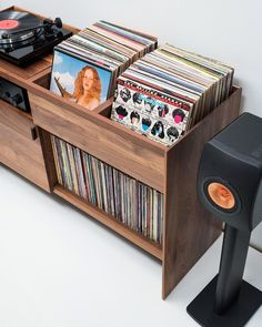 The Unison Record Stand from Symbol Audio is the perfect record player stand to hold a turntable and vinyl record collection. When flanked with floor standing speakers Unison creates the ultimate dedicated entertainment center for vinyl enthusiasts.