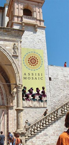 assisi mosaic logo design by fulvio bisca via behance